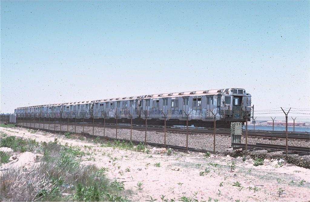 (223k, 1024x669)<br><b>Country:</b> United States<br><b>City:</b> New York<br><b>System:</b> New York City Transit<br><b>Line:</b> IND Rockaway<br><b>Location:</b> Broad Channel <br><b>Route:</b> A<br><b>Car:</b> R-10 (American Car & Foundry, 1948) 3144 <br><b>Photo by:</b> Joe Testagrose<br><b>Date:</b> 6/4/1977<br><b>Viewed (this week/total):</b> 5 / 3209