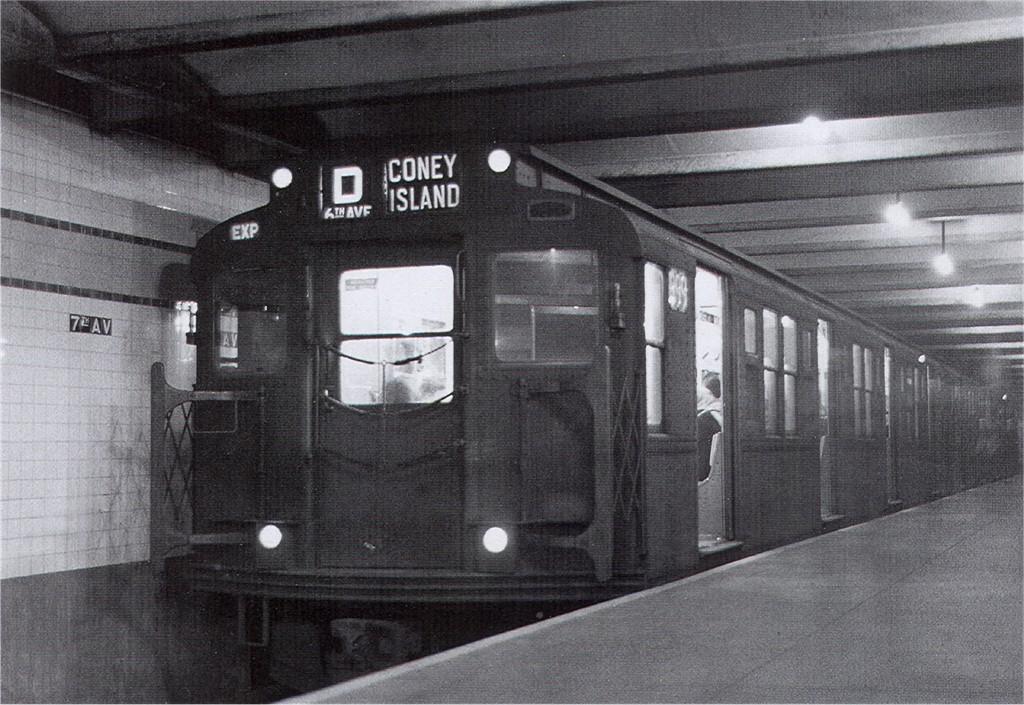 (222k, 1024x705)<br><b>Country:</b> United States<br><b>City:</b> New York<br><b>System:</b> New York City Transit<br><b>Line:</b> IND Crosstown Line<br><b>Location:</b> 7th Avenue/Park Slope <br><b>Route:</b> D<br><b>Car:</b> R-4 (American Car & Foundry, 1932-1933) 899 <br><b>Collection of:</b> Joe Testagrose<br><b>Date:</b> 12/1955<br><b>Viewed (this week/total):</b> 5 / 5212