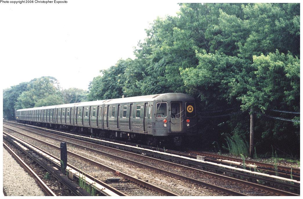 (217k, 1044x688)<br><b>Country:</b> United States<br><b>City:</b> New York<br><b>System:</b> New York City Transit<br><b>Line:</b> BMT Brighton Line<br><b>Location:</b> Brighton Beach <br><b>Route:</b> Q<br><b>Car:</b> R-68/R-68A Series (Number Unknown)  <br><b>Photo by:</b> Christopher Esposito<br><b>Date:</b> 7/18/2004<br><b>Viewed (this week/total):</b> 1 / 1999
