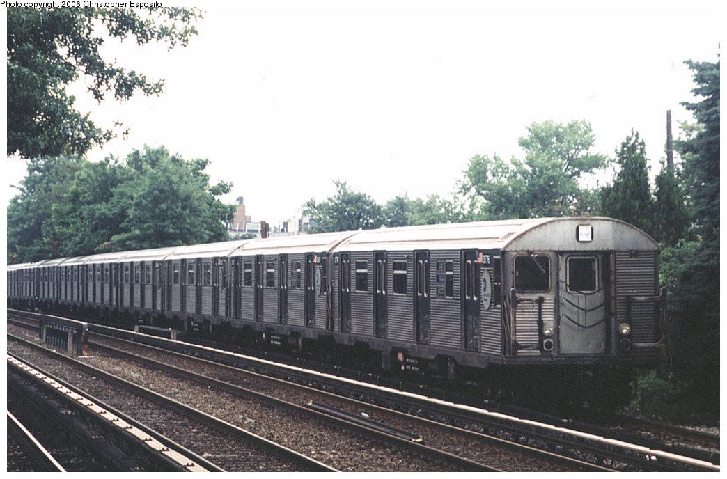(179k, 1044x688)<br><b>Country:</b> United States<br><b>City:</b> New York<br><b>System:</b> New York City Transit<br><b>Line:</b> BMT Brighton Line<br><b>Location:</b> Avenue J <br><b>Route:</b> Q<br><b>Car:</b> R-32 (Budd, 1964)  3776 <br><b>Photo by:</b> Christopher Esposito<br><b>Date:</b> 7/18/2004<br><b>Viewed (this week/total):</b> 0 / 2943