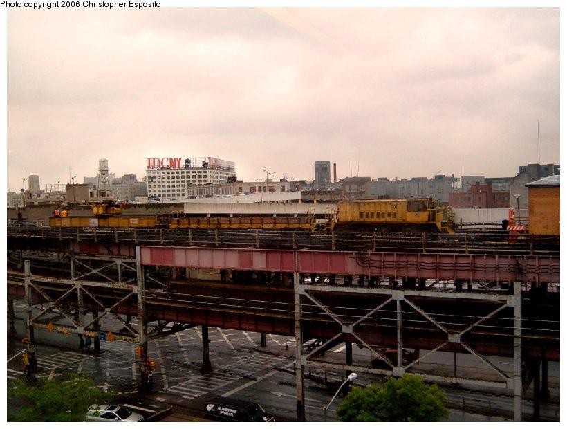 (92k, 820x620)<br><b>Country:</b> United States<br><b>City:</b> New York<br><b>System:</b> New York City Transit<br><b>Line:</b> IRT Flushing Line<br><b>Location:</b> Queensborough Plaza <br><b>Route:</b> Work Service<br><b>Car:</b> Locomotive  <br><b>Photo by:</b> Christopher Esposito<br><b>Date:</b> 5/24/2005<br><b>Viewed (this week/total):</b> 0 / 2830