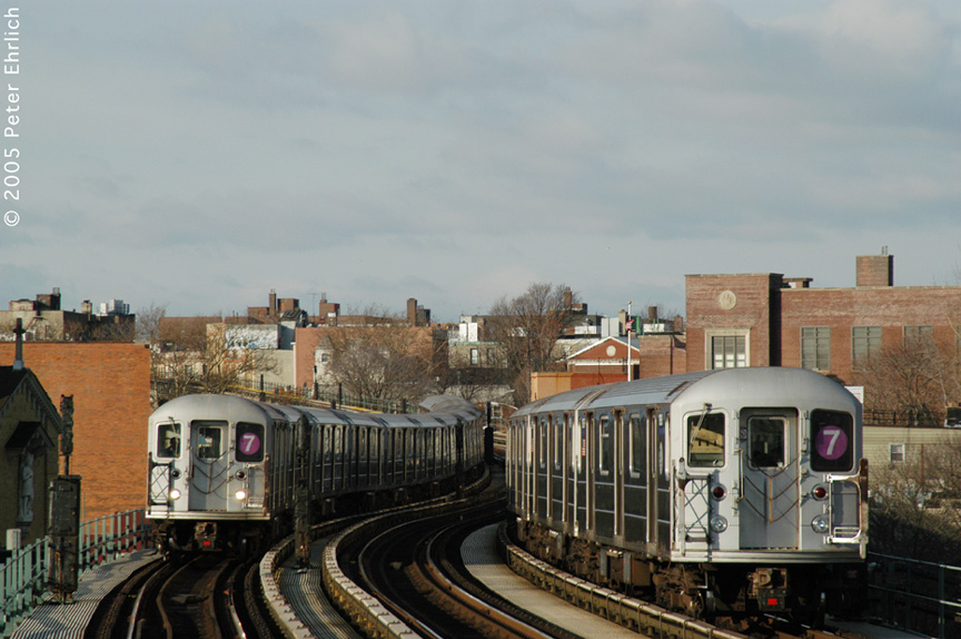 (180k, 864x574)<br><b>Country:</b> United States<br><b>City:</b> New York<br><b>System:</b> New York City Transit<br><b>Line:</b> IRT Flushing Line<br><b>Location:</b> 61st Street/Woodside <br><b>Route:</b> 7<br><b>Car:</b> R-62A (Bombardier, 1984-1987)  1938 <br><b>Photo by:</b> Peter Ehrlich<br><b>Date:</b> 12/30/2005<br><b>Viewed (this week/total):</b> 0 / 2882