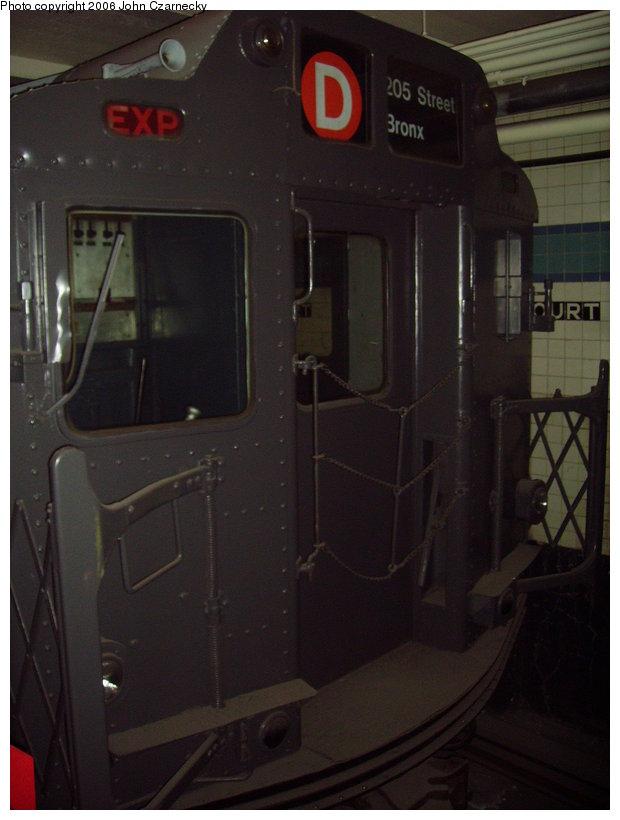 (96k, 620x820)<br><b>Country:</b> United States<br><b>City:</b> New York<br><b>System:</b> New York City Transit<br><b>Location:</b> New York Transit Museum<br><b>Car:</b> R-10 (American Car & Foundry, 1948) 3184 <br><b>Photo by:</b> John Czarnecky<br><b>Date:</b> 2/28/2006<br><b>Viewed (this week/total):</b> 1 / 4323