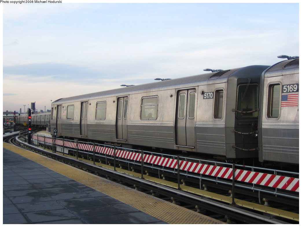 (152k, 1044x788)<br><b>Country:</b> United States<br><b>City:</b> New York<br><b>System:</b> New York City Transit<br><b>Location:</b> Coney Island/Stillwell Avenue<br><b>Route:</b> Q<br><b>Car:</b> R-68A (Kawasaki, 1988-1989)  5170 <br><b>Photo by:</b> Michael Hodurski<br><b>Date:</b> 3/8/2006<br><b>Viewed (this week/total):</b> 2 / 2405