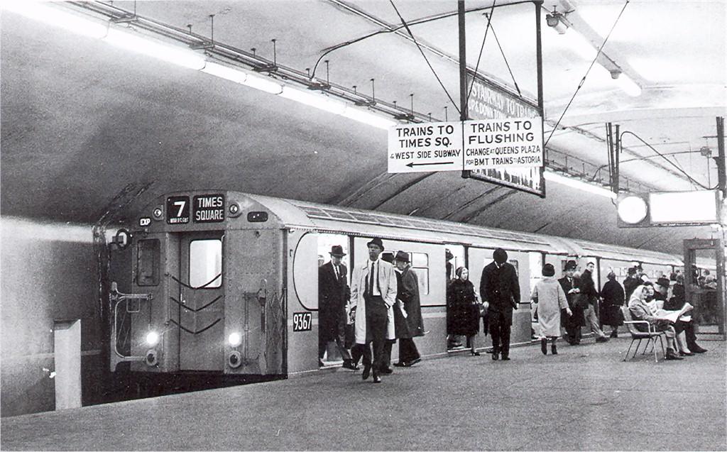(220k, 1024x637)<br><b>Country:</b> United States<br><b>City:</b> New York<br><b>System:</b> New York City Transit<br><b>Line:</b> IRT Flushing Line<br><b>Location:</b> Grand Central <br><b>Route:</b> 7<br><b>Car:</b> R-36 World's Fair (St. Louis, 1963-64) 9367 <br><b>Collection of:</b> Joe Testagrose<br><b>Date:</b> 1964<br><b>Viewed (this week/total):</b> 1 / 5136