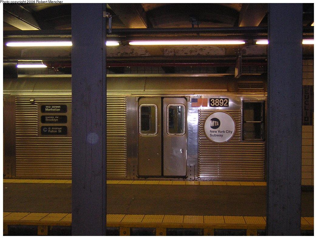 (217k, 1044x788)<br><b>Country:</b> United States<br><b>City:</b> New York<br><b>System:</b> New York City Transit<br><b>Line:</b> IND Fulton Street Line<br><b>Location:</b> Euclid Avenue <br><b>Route:</b> C<br><b>Car:</b> R-32 (GE Rebuild) 3892 <br><b>Photo by:</b> Robert Mencher<br><b>Date:</b> 3/25/2006<br><b>Viewed (this week/total):</b> 1 / 3564