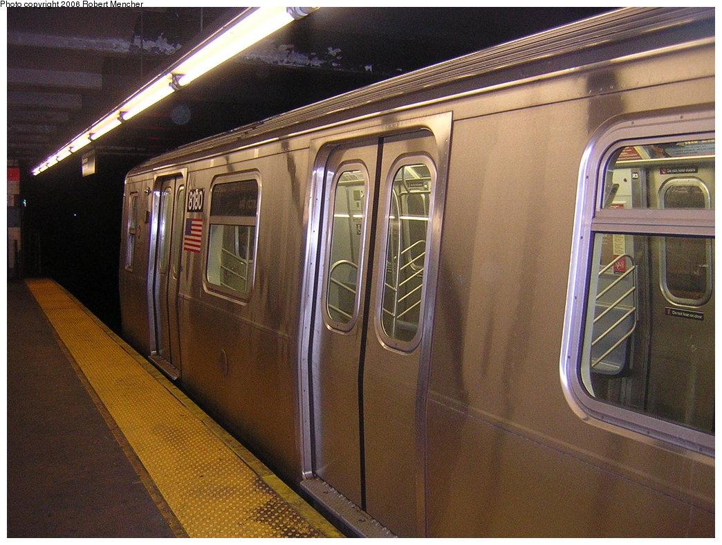 (234k, 1044x788)<br><b>Country:</b> United States<br><b>City:</b> New York<br><b>System:</b> New York City Transit<br><b>Line:</b> IND Crosstown Line<br><b>Location:</b> Church Avenue <br><b>Car:</b> R-143 (Kawasaki, 2001-2002) 8180 <br><b>Photo by:</b> Robert Mencher<br><b>Date:</b> 3/26/2006<br><b>Viewed (this week/total):</b> 0 / 3563
