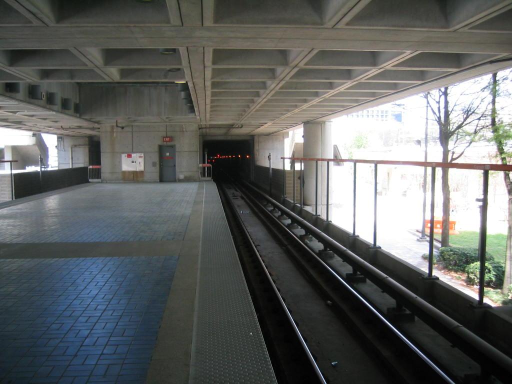 (107k, 1024x768)<br><b>Country:</b> United States<br><b>City:</b> Atlanta, GA<br><b>System:</b> MARTA<br><b>Line:</b> North-South Line <br><b>Location:</b> Garnett <br><b>Car:</b> MARTA CQ311  <br><b>Photo by:</b> Matthew Shull<br><b>Date:</b> 4/1/2006<br><b>Notes:</b> Northbound Doraville train departing Garnett into tunnel to Five Points<br><b>Viewed (this week/total):</b> 9 / 1647