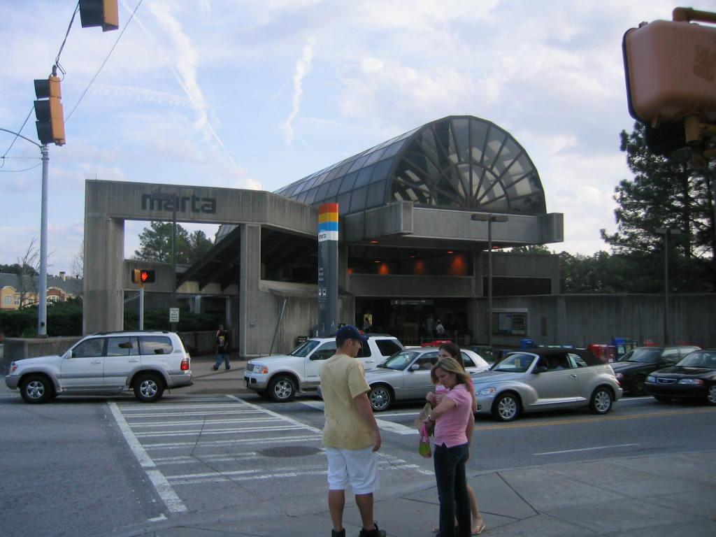(101k, 1024x768)<br><b>Country:</b> United States<br><b>City:</b> Atlanta, GA<br><b>System:</b> MARTA<br><b>Line:</b> Doraville Branch <br><b>Location:</b> Lenox <br><b>Photo by:</b> Matthew Shull<br><b>Date:</b> 4/1/2006<br><b>Notes:</b> South Entrance on corner of Lenox Rd. & East Paces Ferry Rd<br><b>Viewed (this week/total):</b> 0 / 2674
