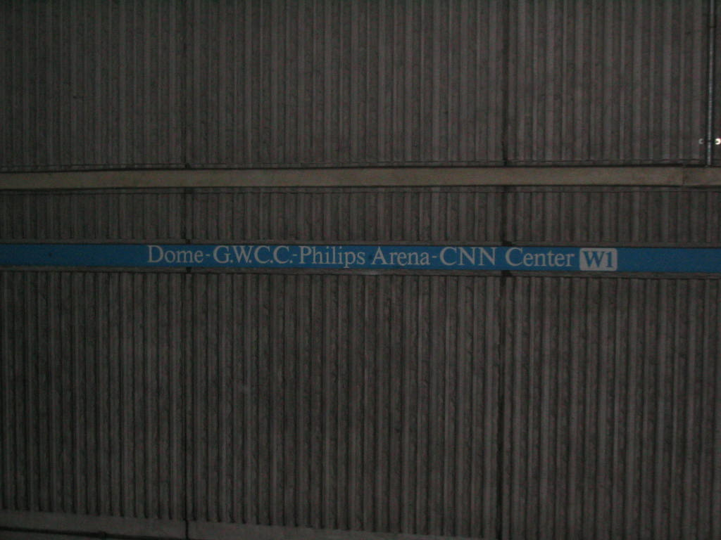(89k, 1024x768)<br><b>Country:</b> United States<br><b>City:</b> Atlanta, GA<br><b>System:</b> MARTA<br><b>Line:</b> East-West Line <br><b>Location:</b> Dome/GWCC/Philips Arena/CNN Center <br><b>Photo by:</b> Matthew Shull<br><b>Date:</b> 4/2/2006<br><b>Notes:</b> Longest station name in system!<br><b>Viewed (this week/total):</b> 0 / 1636