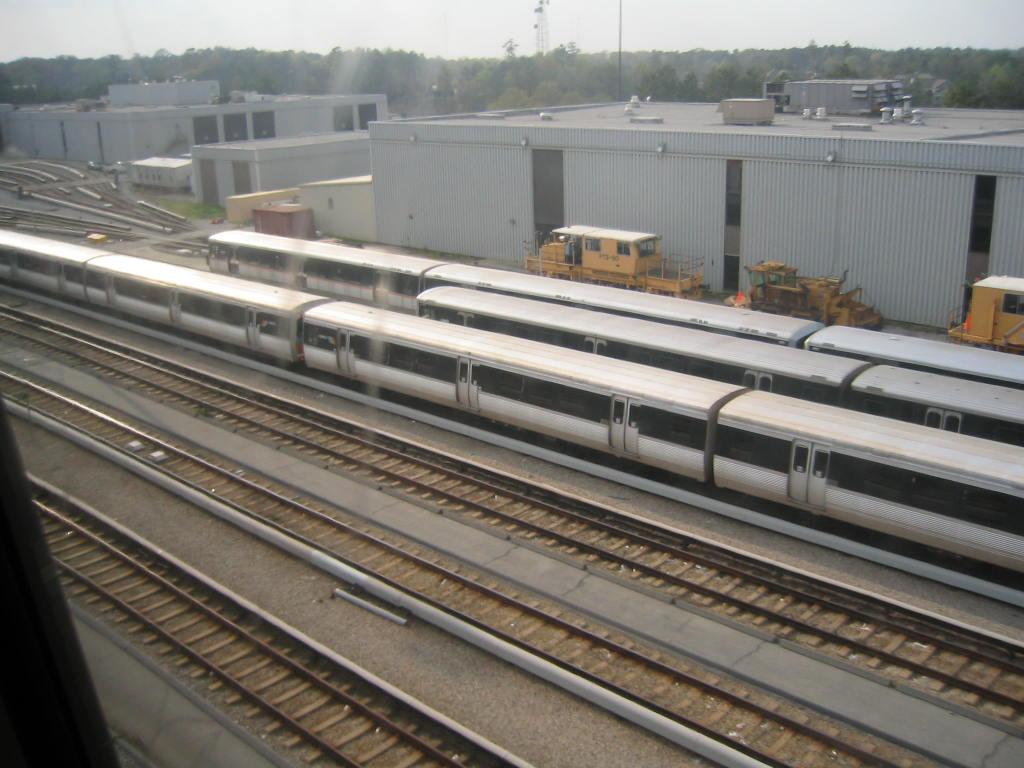 (117k, 1024x768)<br><b>Country:</b> United States<br><b>City:</b> Atlanta, GA<br><b>System:</b> MARTA<br><b>Line:</b> East-West Line <br><b>Location:</b> Avondale Yard/Shop <br><b>Photo by:</b> Matthew Shull<br><b>Date:</b> 4/2/2006<br><b>Notes:</b> Breda & Franco Belge cars laid up as 6-car trains<br><b>Viewed (this week/total):</b> 0 / 2183
