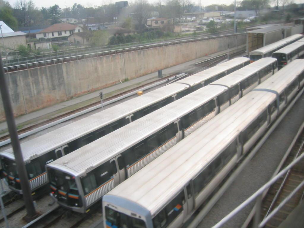 (107k, 1024x768)<br><b>Country:</b> United States<br><b>City:</b> Atlanta, GA<br><b>System:</b> MARTA<br><b>Line:</b> East-West Line <br><b>Location:</b> Avondale Yard/Shop <br><b>Photo by:</b> Matthew Shull<br><b>Date:</b> 4/2/2006<br><b>Notes:</b> Breda & Franco Belge cars laid up as pairs not 6-car trains<br><b>Viewed (this week/total):</b> 1 / 2314