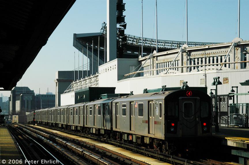 (212k, 864x574)<br><b>Country:</b> United States<br><b>City:</b> New York<br><b>System:</b> New York City Transit<br><b>Line:</b> IRT Woodlawn Line<br><b>Location:</b> 161st Street/River Avenue (Yankee Stadium) <br><b>Car:</b> R-142 (Option Order, Bombardier, 2002-2003)  1156 <br><b>Photo by:</b> Peter Ehrlich<br><b>Date:</b> 1/24/2006<br><b>Viewed (this week/total):</b> 0 / 3687