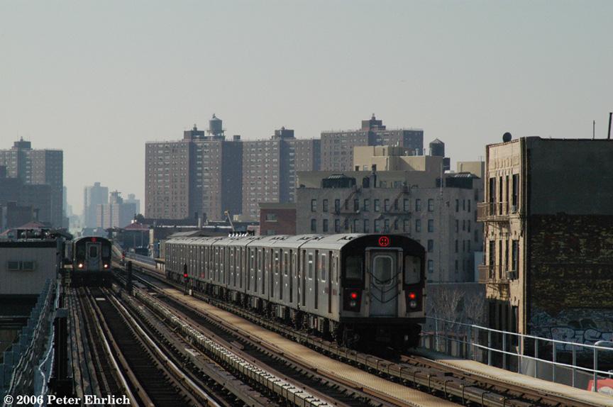 (191k, 864x574)<br><b>Country:</b> United States<br><b>City:</b> New York<br><b>System:</b> New York City Transit<br><b>Line:</b> IRT White Plains Road Line<br><b>Location:</b> Intervale Avenue <br><b>Car:</b> R-142 (Primary Order, Bombardier, 1999-2002)  6601 <br><b>Photo by:</b> Peter Ehrlich<br><b>Date:</b> 1/24/2006<br><b>Viewed (this week/total):</b> 3 / 3783