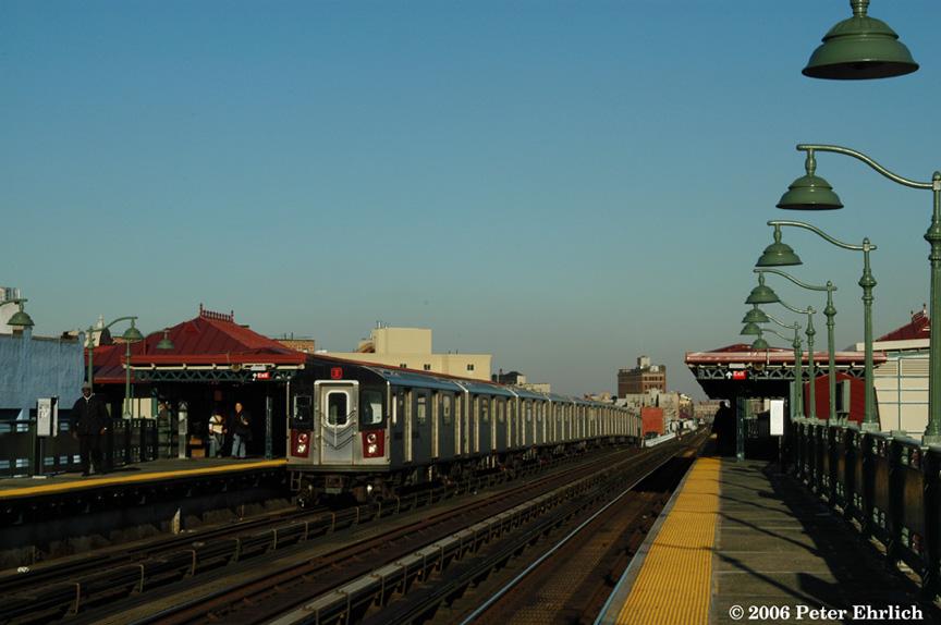 (158k, 864x574)<br><b>Country:</b> United States<br><b>City:</b> New York<br><b>System:</b> New York City Transit<br><b>Line:</b> IRT White Plains Road Line<br><b>Location:</b> Prospect Avenue <br><b>Car:</b> R-142 (Option Order, Bombardier, 2002-2003)  7000 <br><b>Photo by:</b> Peter Ehrlich<br><b>Date:</b> 1/24/2006<br><b>Viewed (this week/total):</b> 1 / 3302