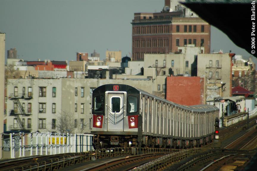 (201k, 864x574)<br><b>Country:</b> United States<br><b>City:</b> New York<br><b>System:</b> New York City Transit<br><b>Line:</b> IRT White Plains Road Line<br><b>Location:</b> Prospect Avenue <br><b>Car:</b> R-142 (Option Order, Bombardier, 2002-2003)  7021 <br><b>Photo by:</b> Peter Ehrlich<br><b>Date:</b> 1/24/2006<br><b>Viewed (this week/total):</b> 0 / 3797