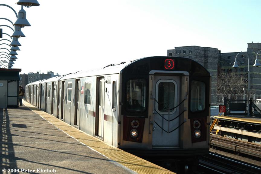 (174k, 864x574)<br><b>Country:</b> United States<br><b>City:</b> New York<br><b>System:</b> New York City Transit<br><b>Line:</b> IRT White Plains Road Line<br><b>Location:</b> West Farms Sq./East Tremont Ave./177th St. <br><b>Car:</b> R-142 (Option Order, Bombardier, 2002-2003)  7030 <br><b>Photo by:</b> Peter Ehrlich<br><b>Date:</b> 1/24/2006<br><b>Viewed (this week/total):</b> 0 / 2707