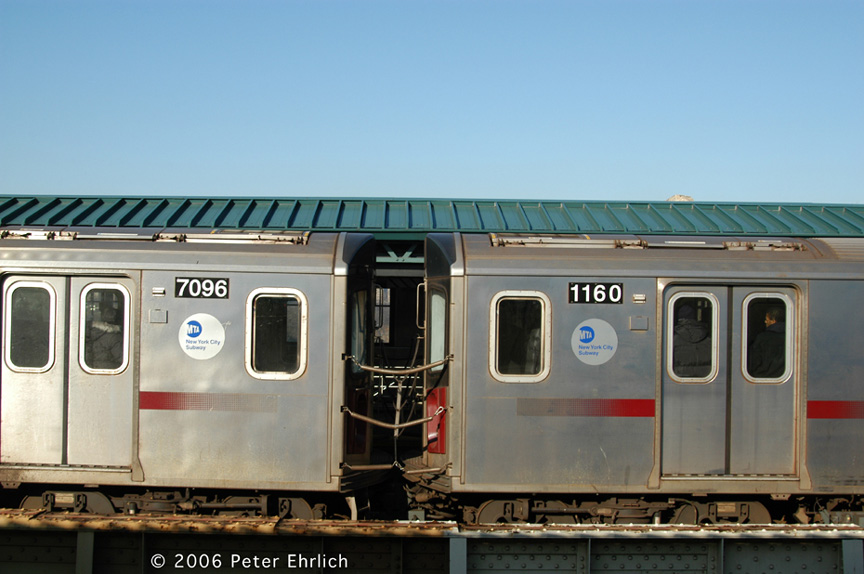 (157k, 864x574)<br><b>Country:</b> United States<br><b>City:</b> New York<br><b>System:</b> New York City Transit<br><b>Line:</b> IRT Woodlawn Line<br><b>Location:</b> 161st Street/River Avenue (Yankee Stadium) <br><b>Car:</b> R-142 (Option Order, Bombardier, 2002-2003)  7096/1160 <br><b>Photo by:</b> Peter Ehrlich<br><b>Date:</b> 1/24/2006<br><b>Viewed (this week/total):</b> 3 / 4436