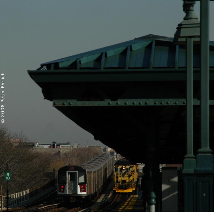 (163k, 864x857)<br><b>Country:</b> United States<br><b>City:</b> New York<br><b>System:</b> New York City Transit<br><b>Line:</b> IRT Woodlawn Line<br><b>Location:</b> 161st Street/River Avenue (Yankee Stadium) <br><b>Car:</b> R-142A (Option Order, Kawasaki, 2002-2003)  7686 <br><b>Photo by:</b> Peter Ehrlich<br><b>Date:</b> 1/24/2006<br><b>Viewed (this week/total):</b> 0 / 2327