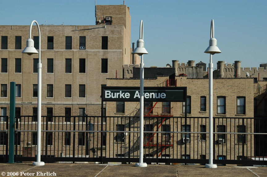 (219k, 864x574)<br><b>Country:</b> United States<br><b>City:</b> New York<br><b>System:</b> New York City Transit<br><b>Line:</b> IRT White Plains Road Line<br><b>Location:</b> Burke Avenue <br><b>Photo by:</b> Peter Ehrlich<br><b>Date:</b> 1/24/2006<br><b>Viewed (this week/total):</b> 4 / 2538