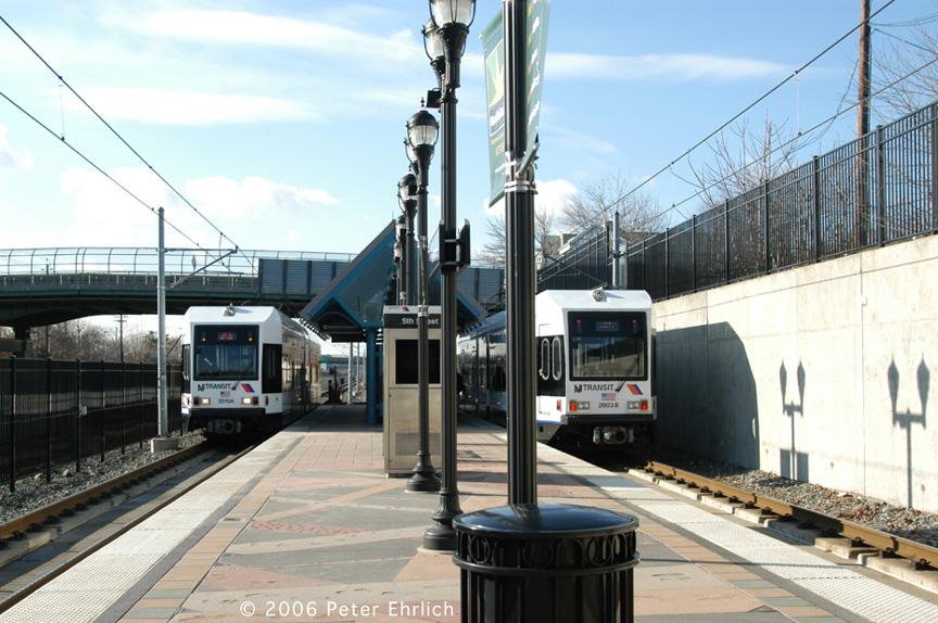 (213k, 864x574)<br><b>Country:</b> United States<br><b>City:</b> Bayonne, NJ<br><b>System:</b> Hudson Bergen Light Rail<br><b>Location:</b> East 45th Street <br><b>Car:</b> NJT-HBLR LRV (Kinki-Sharyo, 1998-99)  2015/2003 <br><b>Photo by:</b> Peter Ehrlich<br><b>Date:</b> 1/25/2006<br><b>Viewed (this week/total):</b> 2 / 1741