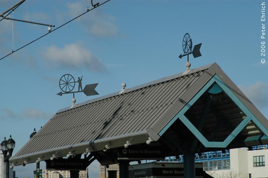 (161k, 864x574)<br><b>Country:</b> United States<br><b>City:</b> Jersey City, NJ<br><b>System:</b> Hudson Bergen Light Rail<br><b>Location:</b> Marin Boulevard <br><b>Photo by:</b> Peter Ehrlich<br><b>Date:</b> 1/25/2006<br><b>Notes:</b> Artwork.<br><b>Viewed (this week/total):</b> 0 / 1485