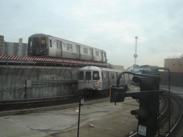 (140k, 640x480)<br><b>Country:</b> United States<br><b>City:</b> New York<br><b>System:</b> New York City Transit<br><b>Location:</b> Coney Island/Stillwell Avenue<br><b>Route:</b> Q<br><b>Car:</b> R-68A (Kawasaki, 1988-1989)   <br><b>Photo by:</b> DeAndre Burrell<br><b>Date:</b> 1/17/2006<br><b>Viewed (this week/total):</b> 0 / 3576