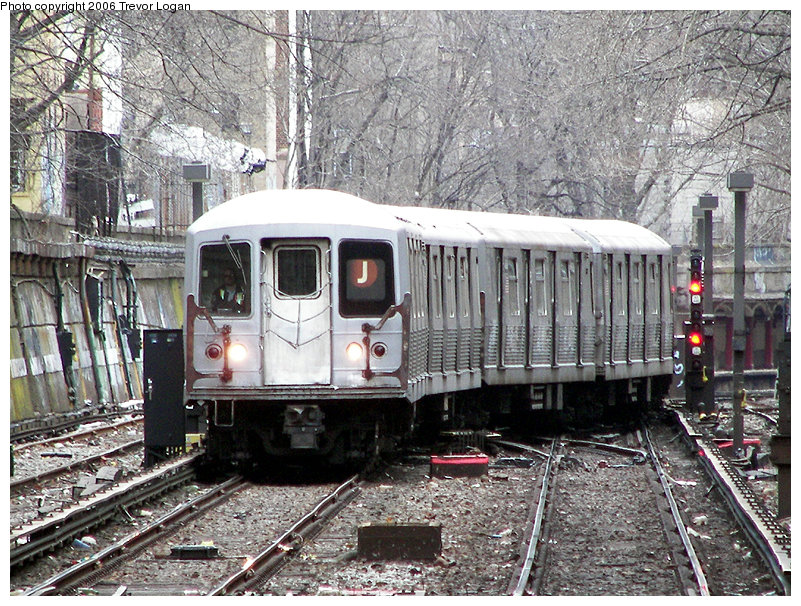 (270k, 801x606)<br><b>Country:</b> United States<br><b>City:</b> New York<br><b>System:</b> New York City Transit<br><b>Line:</b> BMT Brighton Line<br><b>Location:</b> Prospect Park <br><b>Route:</b> J<br><b>Car:</b> R-42 (St. Louis, 1969-1970)  4945 <br><b>Photo by:</b> Trevor Logan<br><b>Date:</b> 2/12/2006<br><b>Viewed (this week/total):</b> 0 / 4870