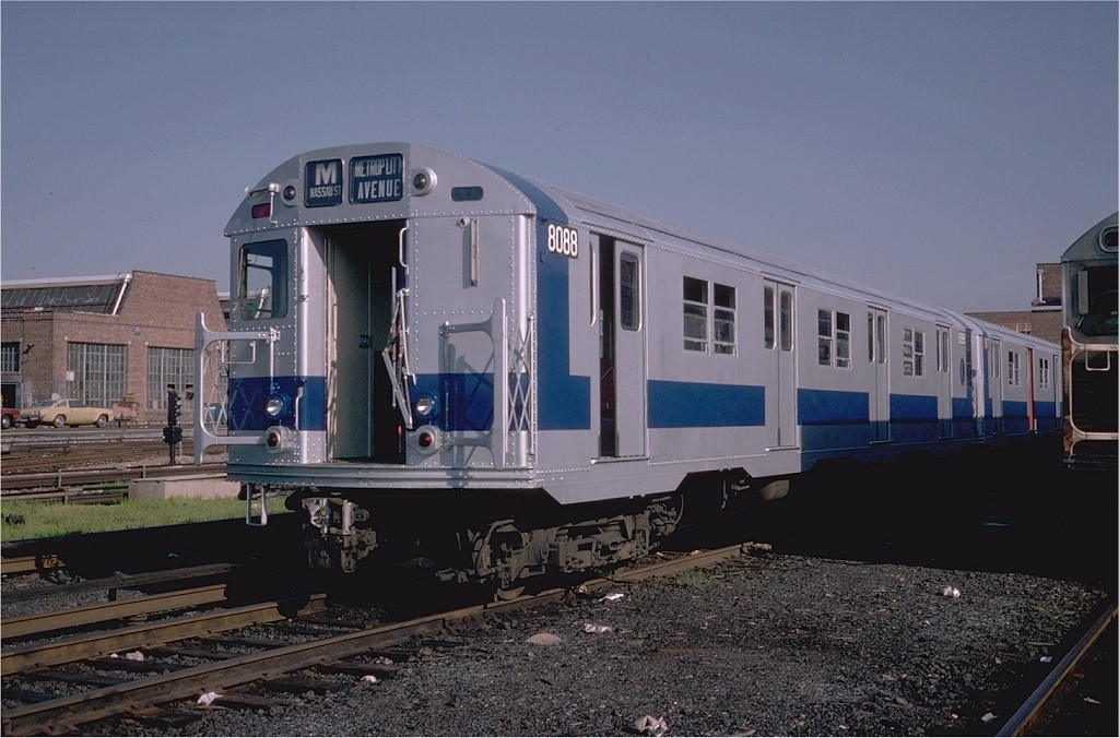(181k, 1024x676)<br><b>Country:</b> United States<br><b>City:</b> New York<br><b>System:</b> New York City Transit<br><b>Location:</b> Coney Island Yard<br><b>Car:</b> R-27 (St. Louis, 1960)  8088 <br><b>Photo by:</b> Steve Zabel<br><b>Collection of:</b> Joe Testagrose<br><b>Date:</b> 8/31/1979<br><b>Viewed (this week/total):</b> 0 / 3544