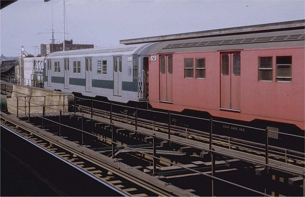 (181k, 1024x663)<br><b>Country:</b> United States<br><b>City:</b> New York<br><b>System:</b> New York City Transit<br><b>Line:</b> BMT Nassau Street/Jamaica Line<br><b>Location:</b> Sutphin Boulevard (Demolished) <br><b>Route:</b> QJ<br><b>Car:</b> R-27 (St. Louis, 1960)  8088 <br><b>Photo by:</b> Doug Grotjahn<br><b>Collection of:</b> Joe Testagrose<br><b>Date:</b> 4/24/1971<br><b>Viewed (this week/total):</b> 2 / 2707