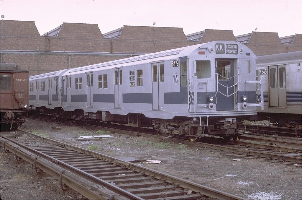 (234k, 1024x677)<br><b>Country:</b> United States<br><b>City:</b> New York<br><b>System:</b> New York City Transit<br><b>Location:</b> Coney Island Yard<br><b>Car:</b> R-30 (St. Louis, 1961) 8379 <br><b>Photo by:</b> Joe Testagrose<br><b>Date:</b> 4/25/1971<br><b>Viewed (this week/total):</b> 4 / 2327