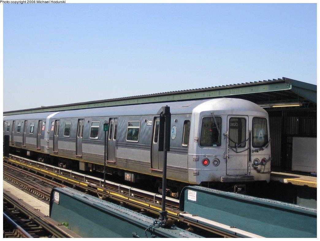(139k, 1044x788)<br><b>Country:</b> United States<br><b>City:</b> New York<br><b>System:</b> New York City Transit<br><b>Line:</b> IND Fulton Street Line<br><b>Location:</b> Rockaway Boulevard <br><b>Route:</b> A<br><b>Car:</b> R-44 (St. Louis, 1971-73) 5322 <br><b>Photo by:</b> Michael Hodurski<br><b>Date:</b> 4/20/2006<br><b>Viewed (this week/total):</b> 0 / 2258