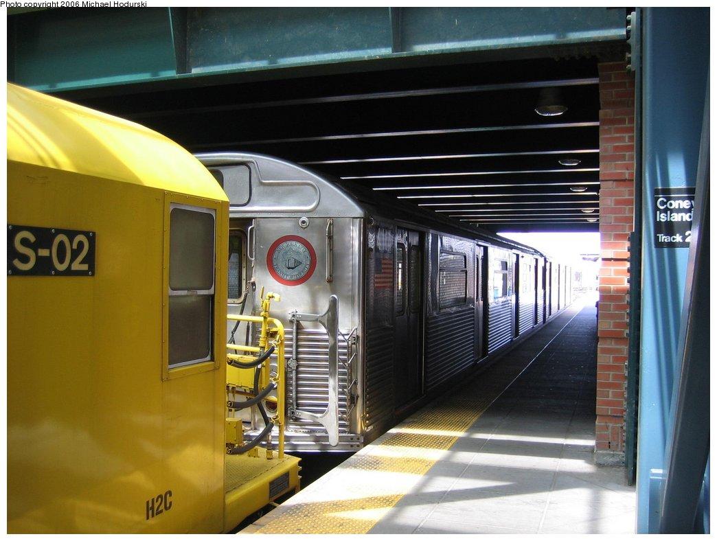 (153k, 1044x788)<br><b>Country:</b> United States<br><b>City:</b> New York<br><b>System:</b> New York City Transit<br><b>Location:</b> Coney Island/Stillwell Avenue<br><b>Route:</b> Work Service<br><b>Car:</b> R-38 (St. Louis, 1966-1967)  4114 <br><b>Photo by:</b> Michael Hodurski<br><b>Date:</b> 4/21/2006<br><b>Viewed (this week/total):</b> 0 / 2582