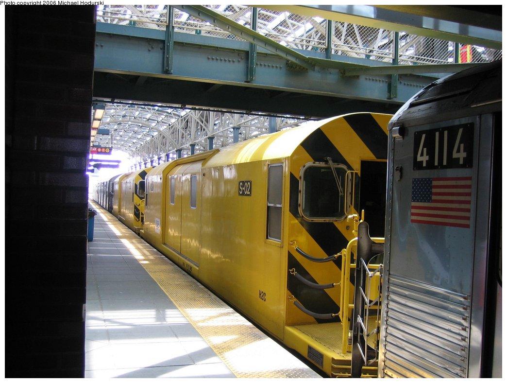 (174k, 1044x788)<br><b>Country:</b> United States<br><b>City:</b> New York<br><b>System:</b> New York City Transit<br><b>Location:</b> Coney Island/Stillwell Avenue<br><b>Route:</b> Work Service<br><b>Car:</b> R-74 Signal Supply (Fuji Heavy Industries, 1984)  02 <br><b>Photo by:</b> Michael Hodurski<br><b>Date:</b> 4/21/2006<br><b>Viewed (this week/total):</b> 9 / 3127