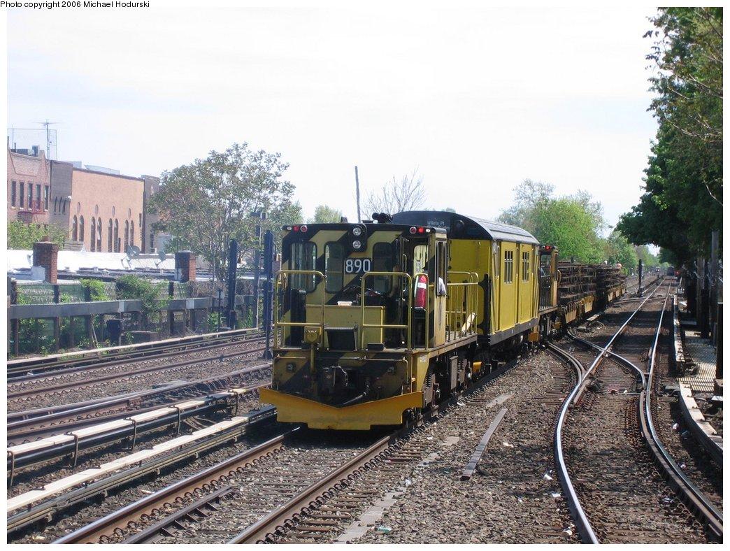 (221k, 1044x788)<br><b>Country:</b> United States<br><b>City:</b> New York<br><b>System:</b> New York City Transit<br><b>Line:</b> BMT Brighton Line<br><b>Location:</b> Kings Highway <br><b>Route:</b> Work Service<br><b>Car:</b> R-77 Locomotive  891 <br><b>Photo by:</b> Michael Hodurski<br><b>Date:</b> 5/6/2006<br><b>Viewed (this week/total):</b> 0 / 2410