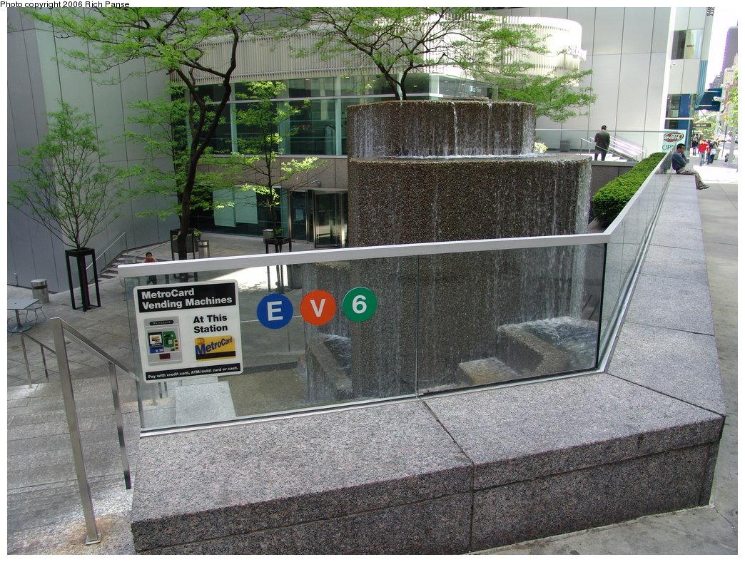 (272k, 1044x788)<br><b>Country:</b> United States<br><b>City:</b> New York<br><b>System:</b> New York City Transit<br><b>Line:</b> IND Queens Boulevard Line<br><b>Location:</b> Lexington Avenue-53rd Street <br><b>Photo by:</b> Richard Panse<br><b>Date:</b> 5/7/2006<br><b>Notes:</b> Station entrance.<br><b>Viewed (this week/total):</b> 0 / 4334