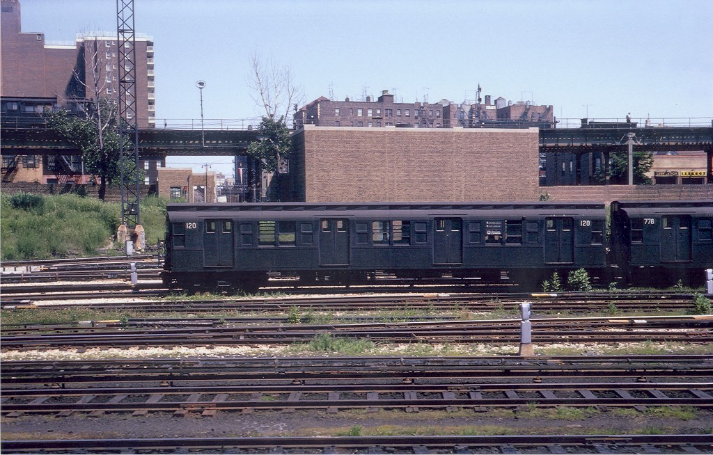 (247k, 1024x654)<br><b>Country:</b> United States<br><b>City:</b> New York<br><b>System:</b> New York City Transit<br><b>Location:</b> Concourse Yard<br><b>Car:</b> R-1 (American Car & Foundry, 1930-1931) 120 <br><b>Collection of:</b> Joe Testagrose<br><b>Date:</b> 6/18/1962<br><b>Viewed (this week/total):</b> 0 / 3893
