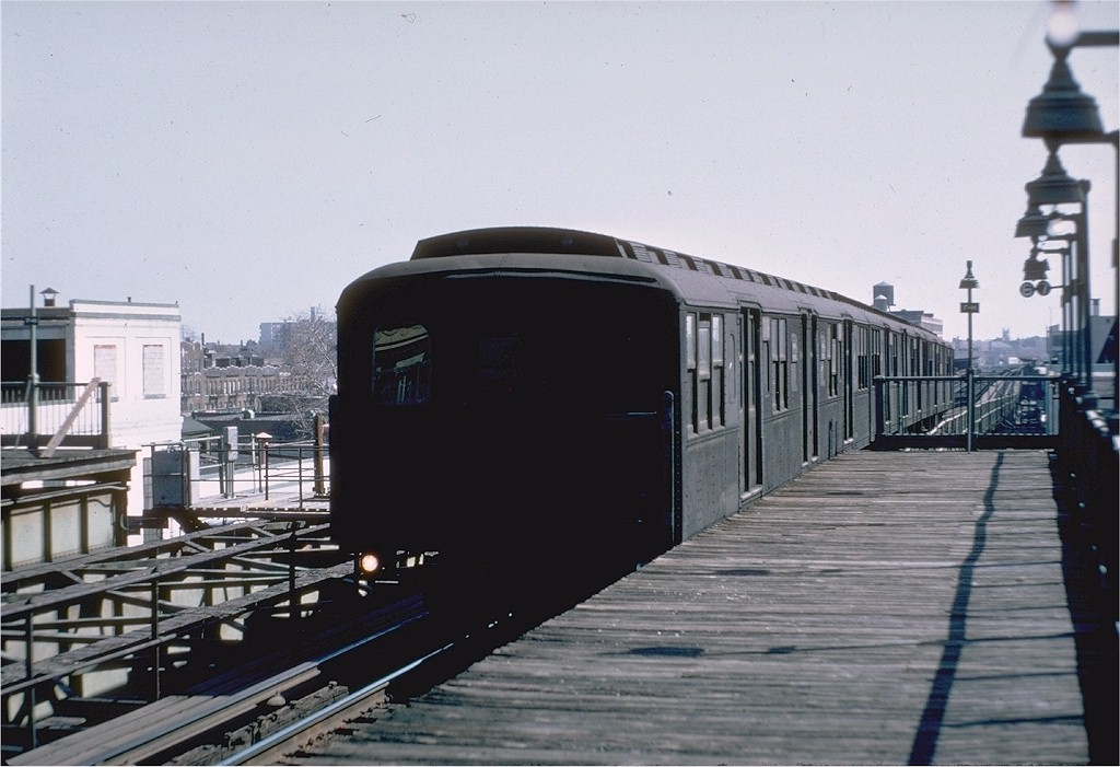 (168k, 1024x701)<br><b>Country:</b> United States<br><b>City:</b> New York<br><b>System:</b> New York City Transit<br><b>Line:</b> BMT Culver Line<br><b>Location:</b> Fort Hamilton Parkway <br><b>Route:</b> Culver Shuttle<br><b>Car:</b> BMT A/B-Type Standard 2406 <br><b>Photo by:</b> Doug Grotjahn<br><b>Collection of:</b> Joe Testagrose<br><b>Date:</b> 3/16/1969<br><b>Viewed (this week/total):</b> 0 / 3076