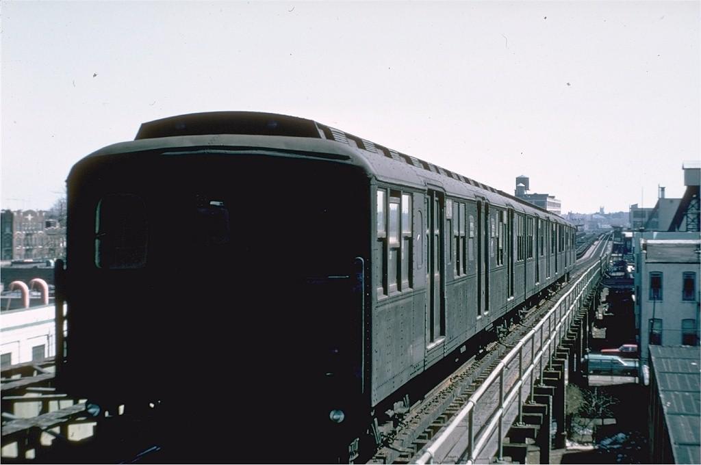 (126k, 1024x680)<br><b>Country:</b> United States<br><b>City:</b> New York<br><b>System:</b> New York City Transit<br><b>Line:</b> BMT Culver Line<br><b>Location:</b> Fort Hamilton Parkway <br><b>Route:</b> Culver Shuttle<br><b>Car:</b> BMT A/B-Type Standard 2406 <br><b>Photo by:</b> Doug Grotjahn<br><b>Collection of:</b> Joe Testagrose<br><b>Date:</b> 3/16/1969<br><b>Viewed (this week/total):</b> 2 / 3259