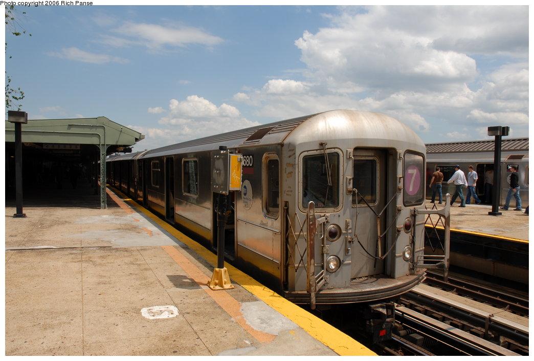 (180k, 1044x705)<br><b>Country:</b> United States<br><b>City:</b> New York<br><b>System:</b> New York City Transit<br><b>Line:</b> IRT Flushing Line<br><b>Location:</b> Willets Point/Mets (fmr. Shea Stadium) <br><b>Route:</b> 7<br><b>Car:</b> R-62A (Bombardier, 1984-1987)  1680 <br><b>Photo by:</b> Richard Panse<br><b>Date:</b> 5/20/2006<br><b>Viewed (this week/total):</b> 1 / 2114