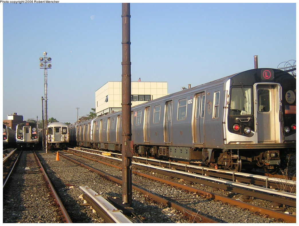 (226k, 1044x788)<br><b>Country:</b> United States<br><b>City:</b> New York<br><b>System:</b> New York City Transit<br><b>Location:</b> Rockaway Parkway (Canarsie) Yard<br><b>Car:</b> R-143 (Kawasaki, 2001-2002) 8252 <br><b>Photo by:</b> Robert Mencher<br><b>Date:</b> 5/17/2006<br><b>Viewed (this week/total):</b> 1 / 3901