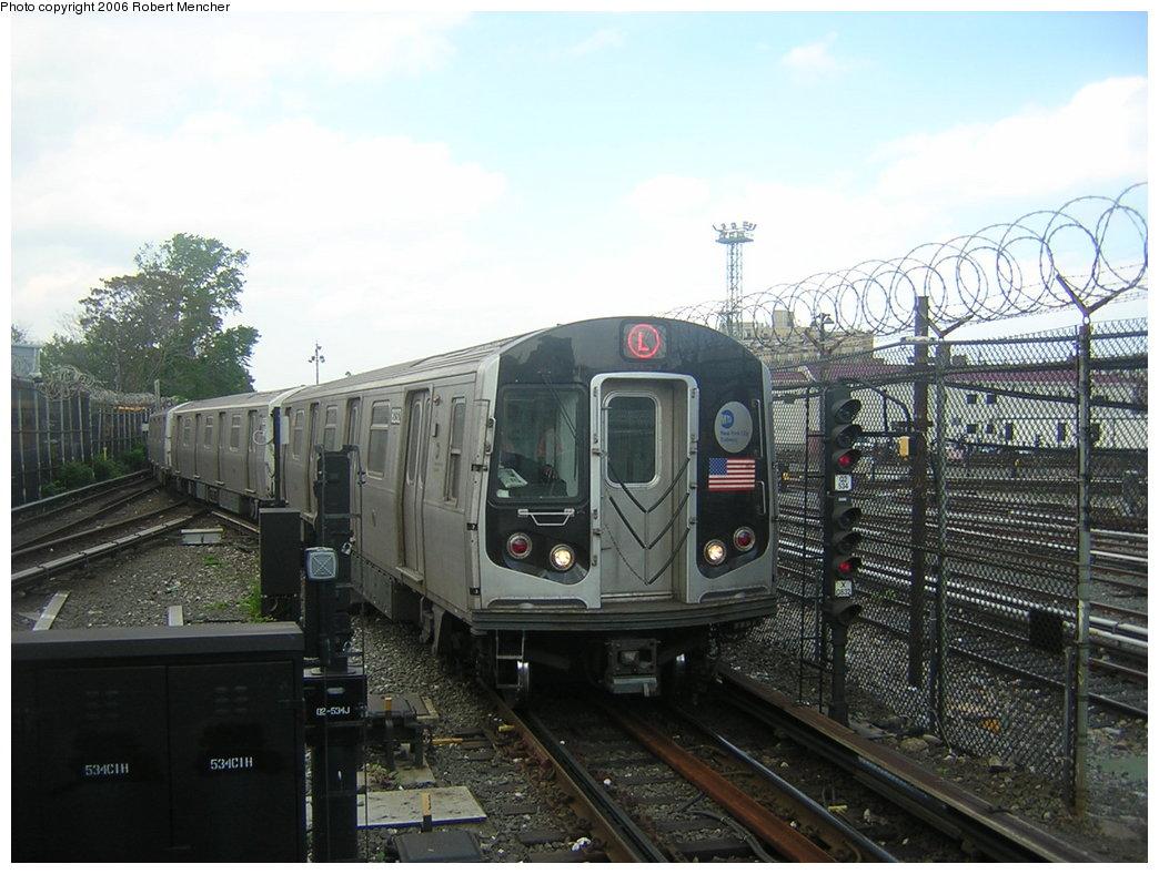 (202k, 1044x788)<br><b>Country:</b> United States<br><b>City:</b> New York<br><b>System:</b> New York City Transit<br><b>Line:</b> BMT Canarsie Line<br><b>Location:</b> Rockaway Parkway <br><b>Route:</b> L<br><b>Car:</b> R-143 (Kawasaki, 2001-2002)  <br><b>Photo by:</b> Robert Mencher<br><b>Date:</b> 5/17/2006<br><b>Viewed (this week/total):</b> 2 / 3665