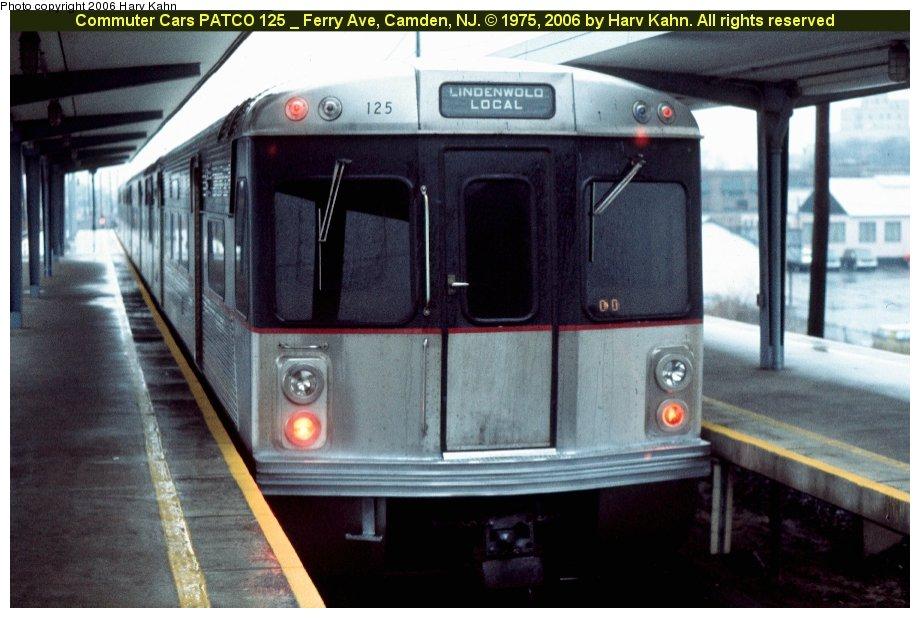 (108k, 920x618)<br><b>Country:</b> United States<br><b>City:</b> Philadelphia, PA<br><b>System:</b> PATCO<br><b>Location:</b> Ferry Avenue <br><b>Car:</b> PATCO 125 <br><b>Photo by:</b> Harv Kahn<br><b>Date:</b> 1975<br><b>Viewed (this week/total):</b> 0 / 2170