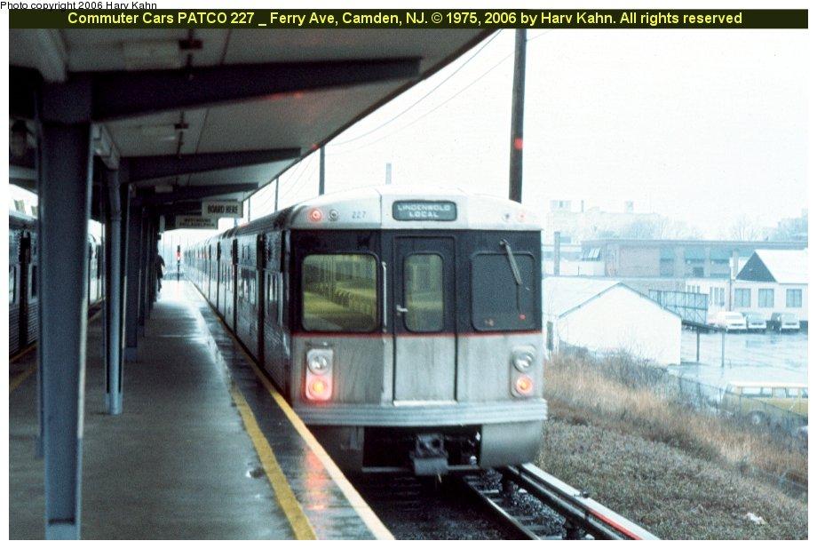 (104k, 920x618)<br><b>Country:</b> United States<br><b>City:</b> Philadelphia, PA<br><b>System:</b> PATCO<br><b>Location:</b> Ferry Avenue <br><b>Car:</b> PATCO 227 <br><b>Photo by:</b> Harv Kahn<br><b>Date:</b> 1975<br><b>Viewed (this week/total):</b> 1 / 1833