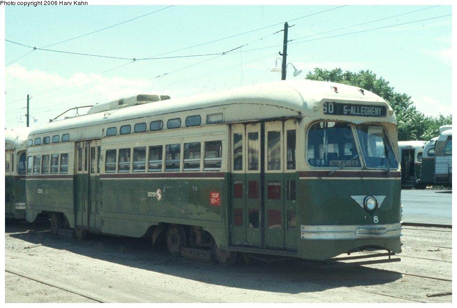 (101k, 920x620)<br><b>Country:</b> United States<br><b>City:</b> Philadelphia, PA<br><b>System:</b> SEPTA (or Predecessor)<br><b>Location:</b> Luzerne Depot <br><b>Car:</b> PTC/SEPTA Postwar All-electric PCC (St.Louis, 1947)  2781 <br><b>Photo by:</b> Harv Kahn<br><b>Date:</b> 7/17/1976<br><b>Viewed (this week/total):</b> 2 / 1578