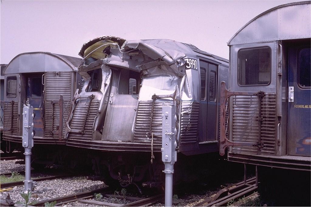 (207k, 1024x682)<br><b>Country:</b> United States<br><b>City:</b> New York<br><b>System:</b> New York City Transit<br><b>Location:</b> Coney Island Yard<br><b>Car:</b> R-38 (St. Louis, 1966-1967)  3990 <br><b>Photo by:</b> Steve Zabel<br><b>Collection of:</b> Joe Testagrose<br><b>Date:</b> 6/28/1972<br><b>Viewed (this week/total):</b> 1 / 14865