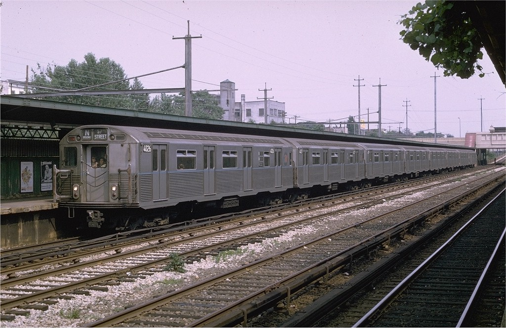 (234k, 1024x665)<br><b>Country:</b> United States<br><b>City:</b> New York<br><b>System:</b> New York City Transit<br><b>Line:</b> BMT Sea Beach Line<br><b>Location:</b> Fort Hamilton Parkway <br><b>Route:</b> N<br><b>Car:</b> R-38 (St. Louis, 1966-1967)  4026 <br><b>Photo by:</b> Joe Testagrose<br><b>Date:</b> 7/4/1969<br><b>Viewed (this week/total):</b> 2 / 3799