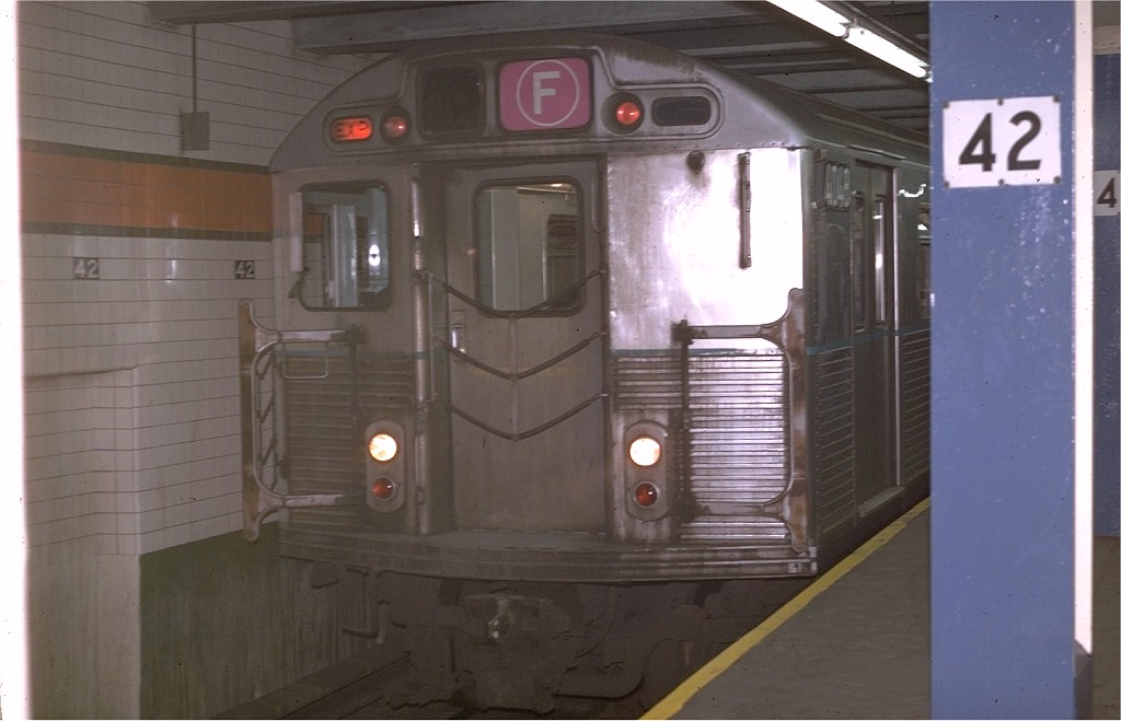 (135k, 1024x659)<br><b>Country:</b> United States<br><b>City:</b> New York<br><b>System:</b> New York City Transit<br><b>Line:</b> IND 6th Avenue Line<br><b>Location:</b> 42nd Street/Bryant Park <br><b>Route:</b> F<br><b>Car:</b> R-38 (St. Louis, 1966-1967)  4048 <br><b>Photo by:</b> Joe Testagrose<br><b>Date:</b> 4/29/1970<br><b>Viewed (this week/total):</b> 1 / 4772