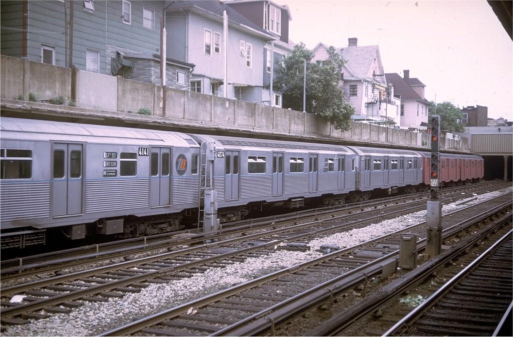 (235k, 1024x673)<br><b>Country:</b> United States<br><b>City:</b> New York<br><b>System:</b> New York City Transit<br><b>Line:</b> BMT Sea Beach Line<br><b>Location:</b> Avenue U <br><b>Route:</b> N<br><b>Car:</b> R-38 (St. Louis, 1966-1967)  4074 <br><b>Photo by:</b> Doug Grotjahn<br><b>Collection of:</b> Joe Testagrose<br><b>Date:</b> 6/21/1969<br><b>Viewed (this week/total):</b> 0 / 4350
