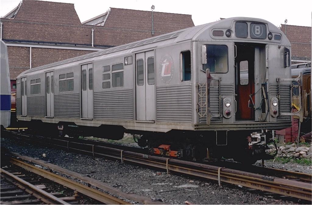 (212k, 1024x673)<br><b>Country:</b> United States<br><b>City:</b> New York<br><b>System:</b> New York City Transit<br><b>Location:</b> Coney Island Yard<br><b>Car:</b> R-38 (St. Louis, 1966-1967)  4111 <br><b>Photo by:</b> Steve Zabel<br><b>Collection of:</b> Joe Testagrose<br><b>Date:</b> 4/17/1978<br><b>Viewed (this week/total):</b> 0 / 4606